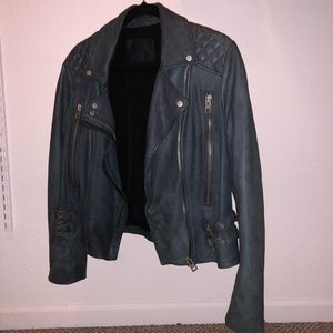 AllSaints Leather Jacket US 10